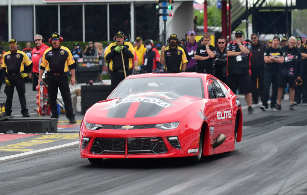 Erica Enders pulled double driving duty at the NHRA Springnationals. Enders finished runner up in Pro Stock but failed to qualify her Chevy Camaro in Pro Mod.
