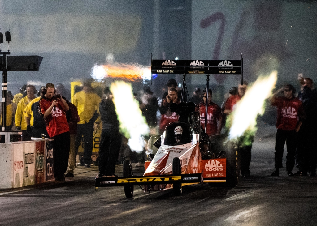 Doug Kalitta off to a blistering start during Friday night qualifying
