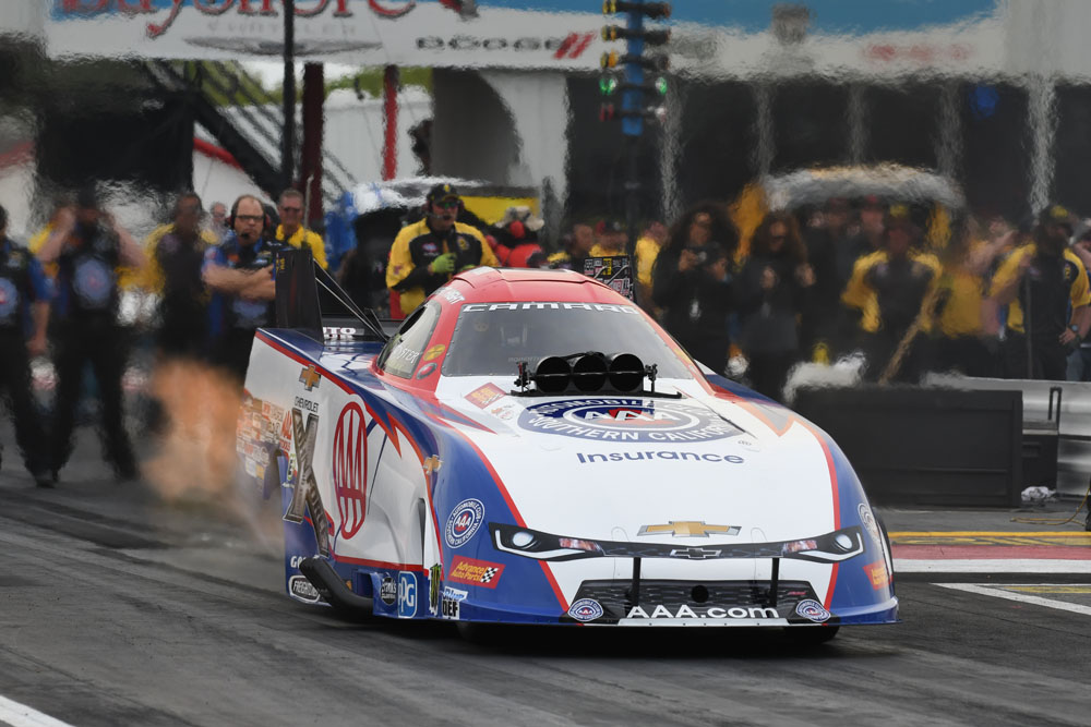 Robert Hight fell to JR Todd in the Funny Car final