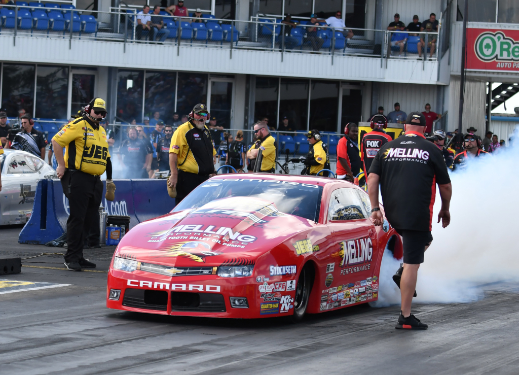 Former Pro Stock World Champ and New Orleans resident Eric Enders qualified well and advanced to the second round of competition