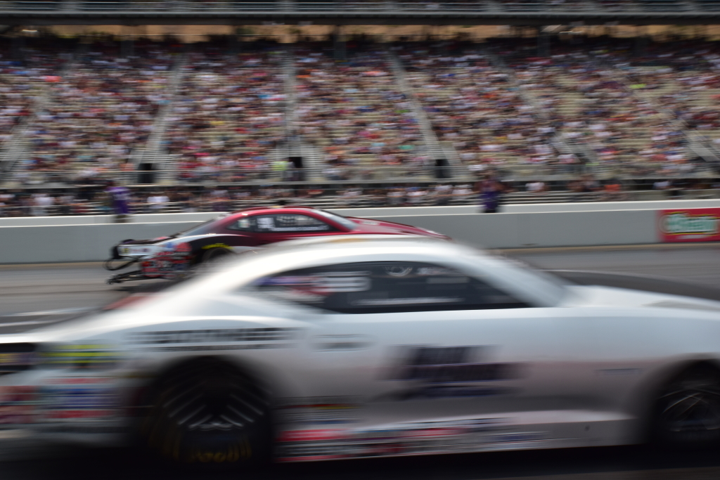 Chris McGaha is a blur on a qualifying run in Pro Stock