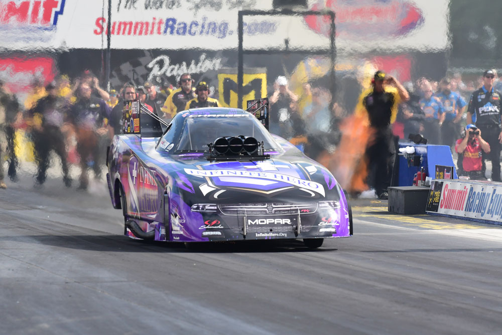 """""""Fast Jack"""" Beckman advanced to the second round in Funny Car"""