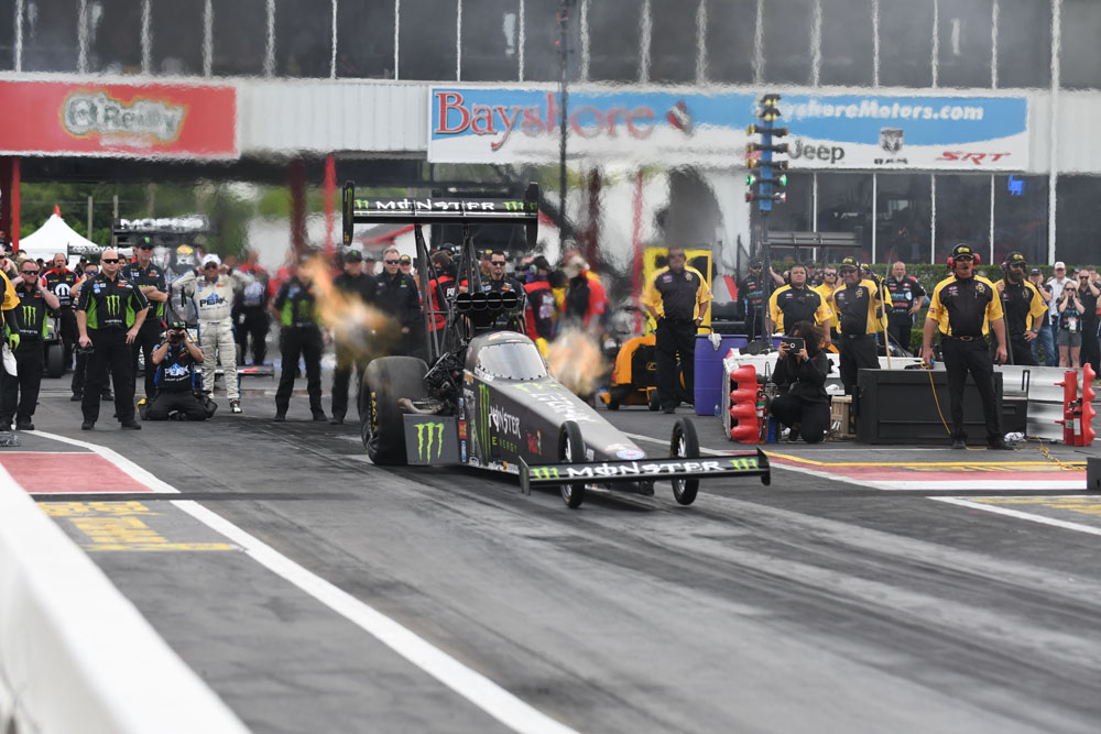 Brittany Force, daughter of drag racing legend John Force, claimed her first win of the season, winning the Top Fuel final over Terry McMillin.
