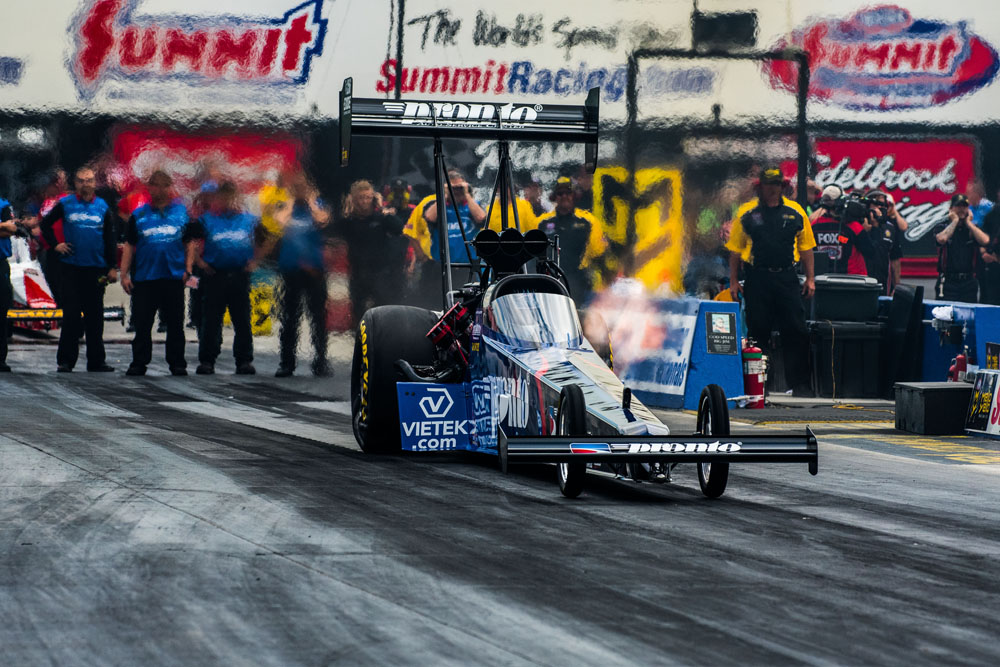 Blake Alexander took home the win in Top Fuel, outdueling Terry McMillin in the final.