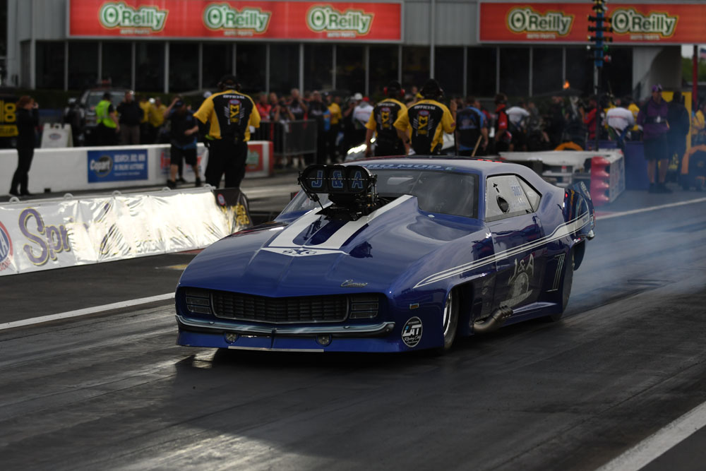 Jim Whitely took home the trophy in Pro Mod over a field of 28 entries.