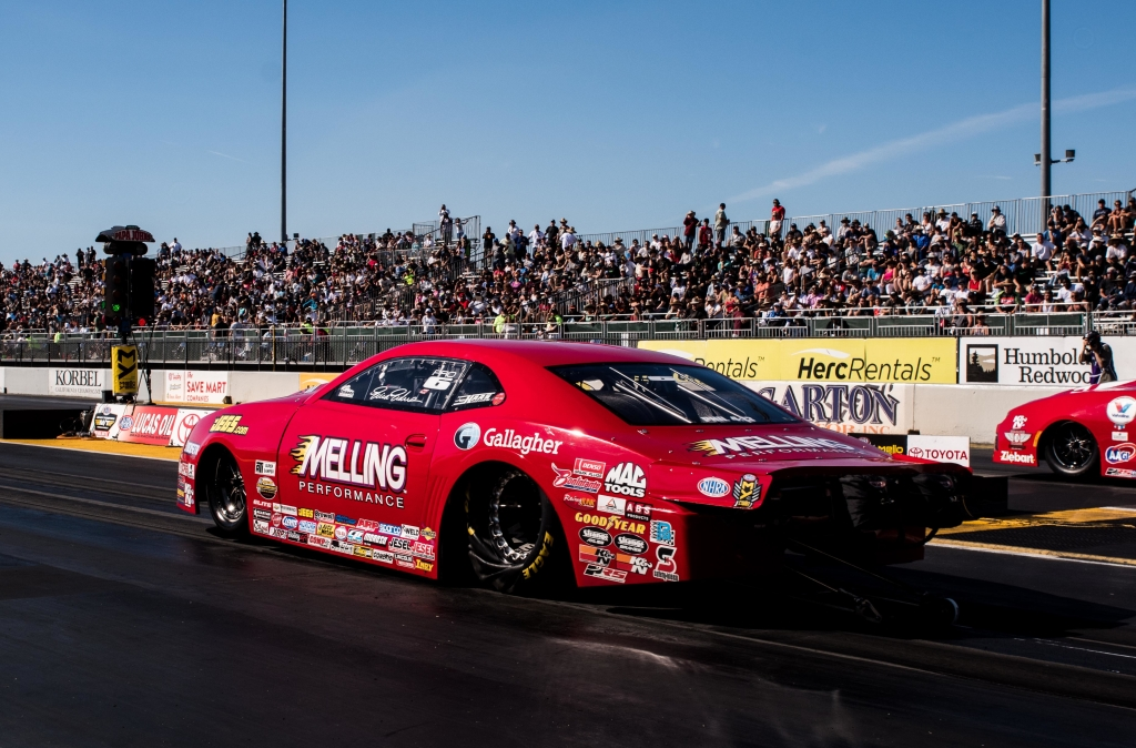 New Orleans resident and former Pro Stock World Champion Erica Enders qualified her Chevrolet Camaro and advanced to round 2 on race day.