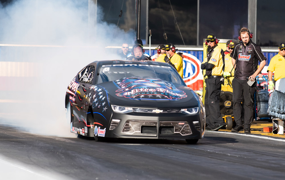 Bo Butner claimed the first Pro Stock crown of the 2019 season.