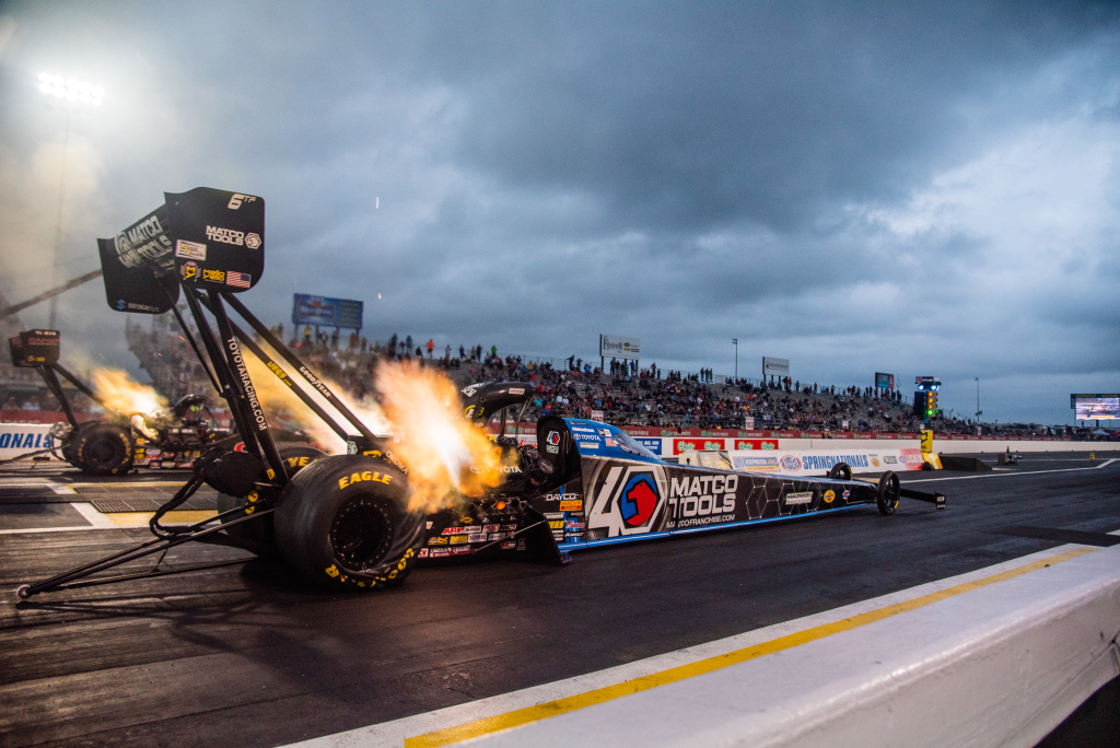 Antron Brown powered his way to a Runner Up finish in Top Fuel