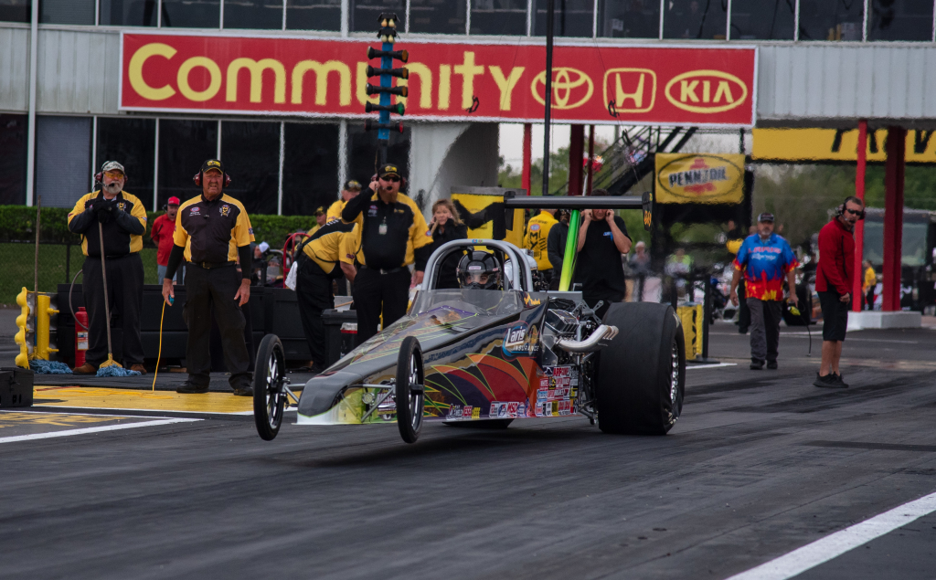 Ross Laris of Raceland brought home the Top Dragster title