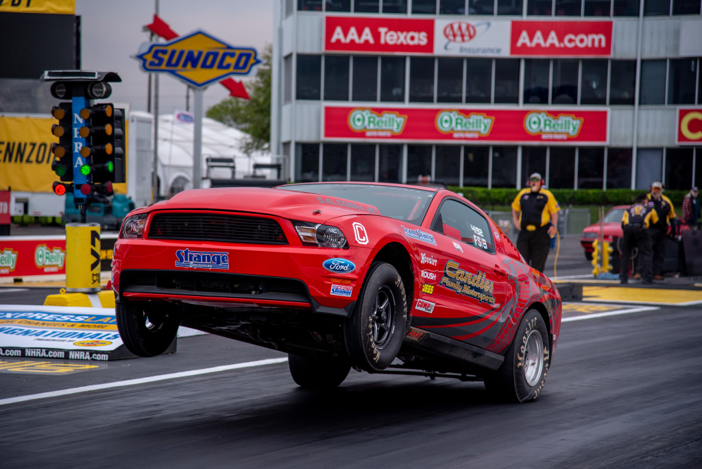 Brett Candies of Thibodaux drove his 2010 Mustang to the runner up spot in Stock Eliminator