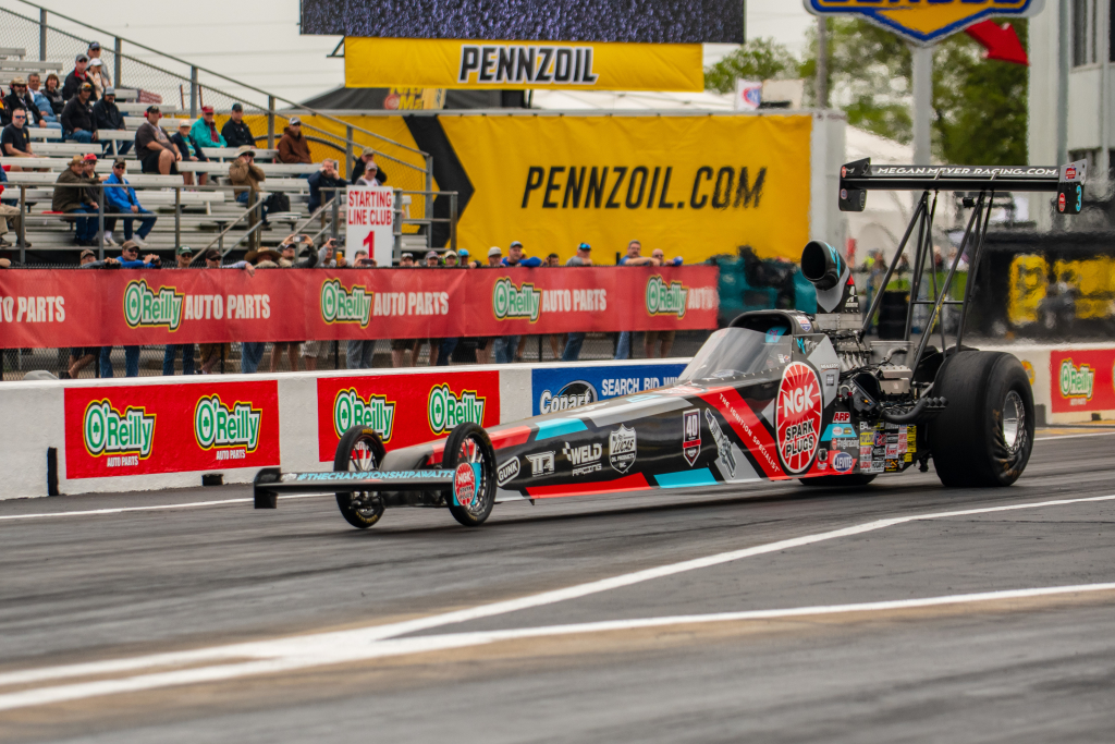 Megan Meyer took home her second win in a row in Top Alcohol Dragster