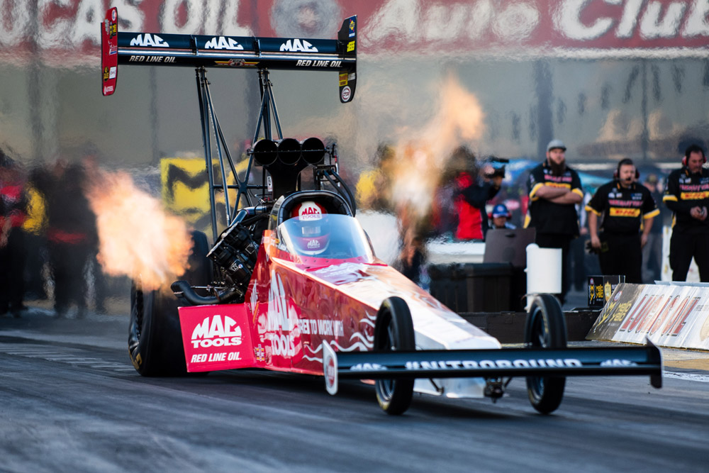 For the second year in a row, Doug Kalitta took home the Top Fuel title on the strength of three holeshot wins during eliminations.
