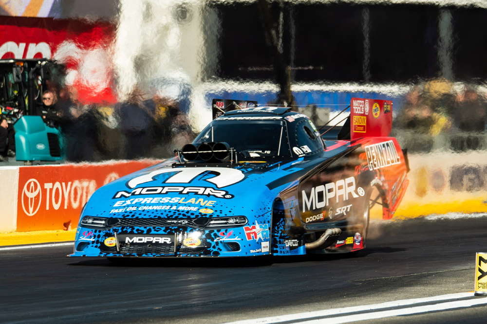 Former Funny Car champ Matt Hagan qualified well in the number four spot, but fell in round one to John Force